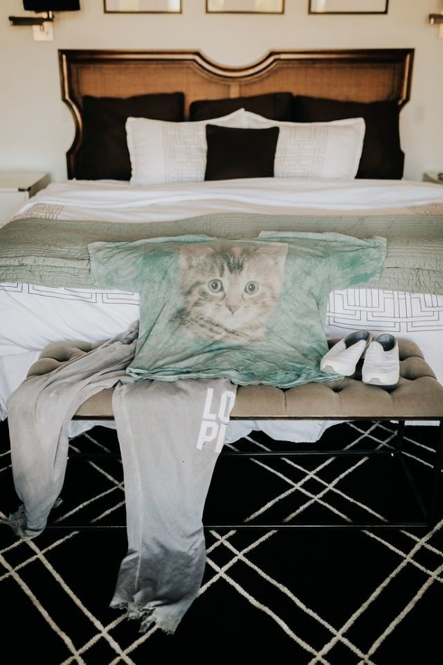 Bride pranks groom with cat-themed first look at wedding dress.