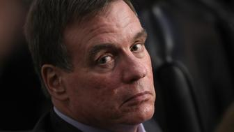 WASHINGTON, DC - JUNE 13:  Ranking member of the committee Mark Warner (R) (D-VA) listens to U.S. Attorney General Jeff Sessions testify before the Senate Intelligence Committee on Capitol Hill June 13, 2017 in Washington, DC. Sessions recused himself from the Russia investigation and he was later discovered to have had contact with the Russian ambassador last year despite testifying to the contrary during his confirmation hearing.  (Photo by Win McNamee/Getty Images)
