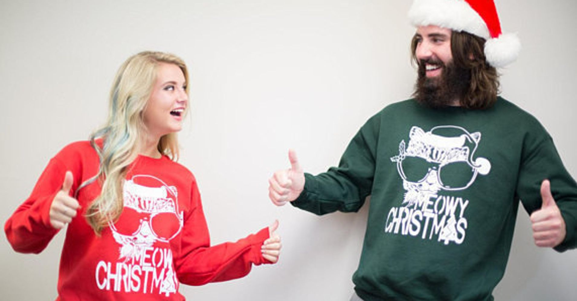 18 Ugly Christmas Sweaters For Couples That Are So Corny They\'re ...