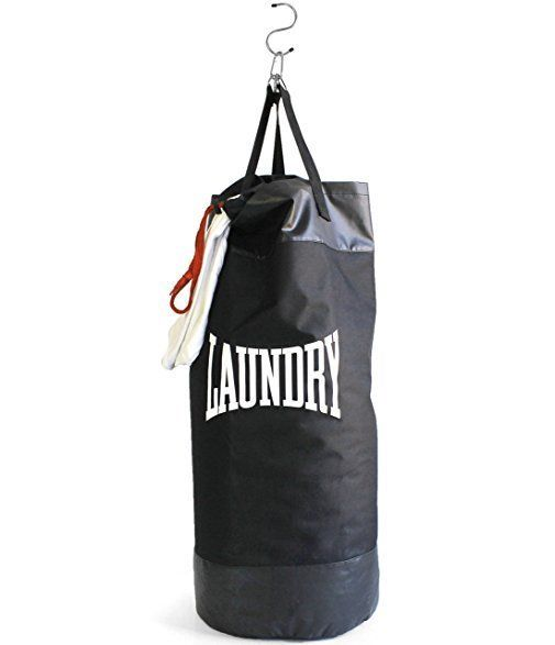 """<a href=""""https://www.uncommongoods.com/product/laundry-punch-bag"""" target=""""_blank"""">Buy it here</a> for $35."""