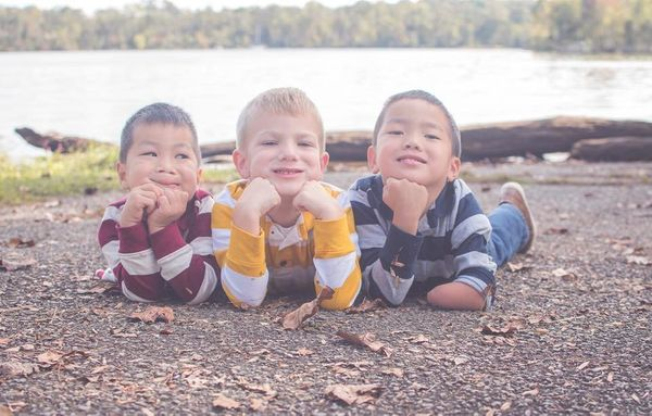 """""""My middle and youngest are adopted from China. Because they're only six weeks apart, I get asked if they're twin"""