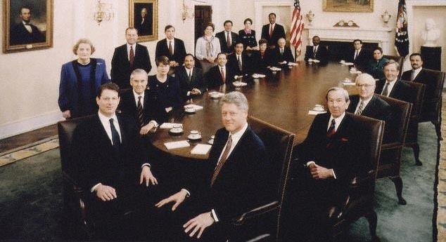 President Clinton, Vice President Gore and the Cabinet.