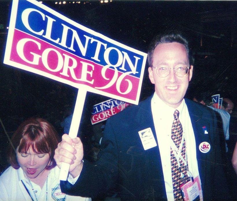 At 1996 Democratic Convention.