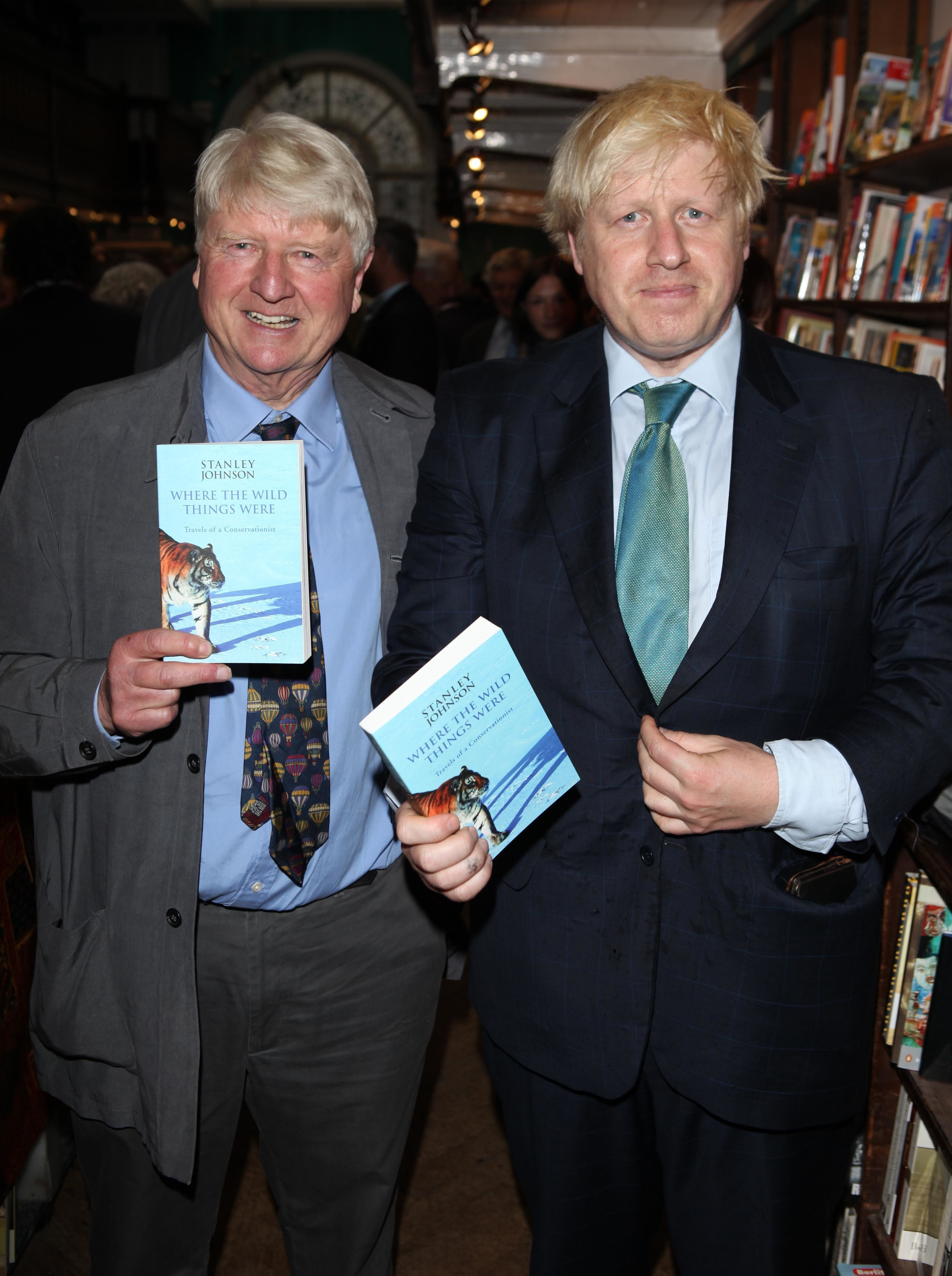 <strong>Stanley Johnson with his son Boris</strong>