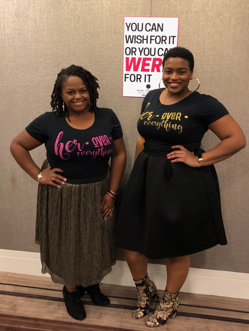 The ladies of BecomingBrilliance.com picking up the gems dropped at Werk, Pray, Slay