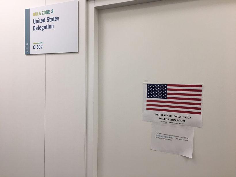 US Delegation Office at COP23 in Bonn.
