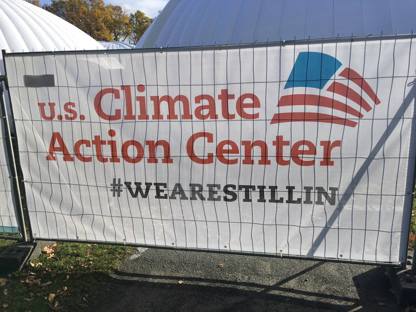 'We Are Still In' serves as a non-governmental US Climate Action Center.