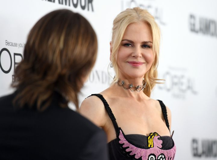 "Nicole Kidman celebrated ""good love"" at Glamour's 2017 Women of the Year Awards on Monday night."