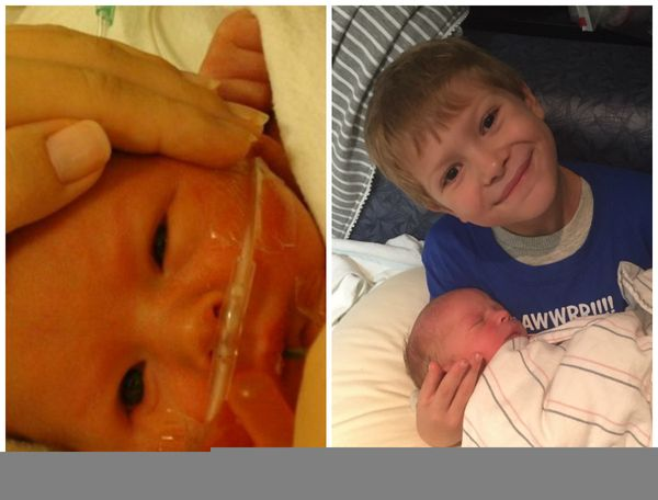 Here is a photo of my son who was born premature at 36 weeks in 2010, and him last October with his new baby brother.<br><br>