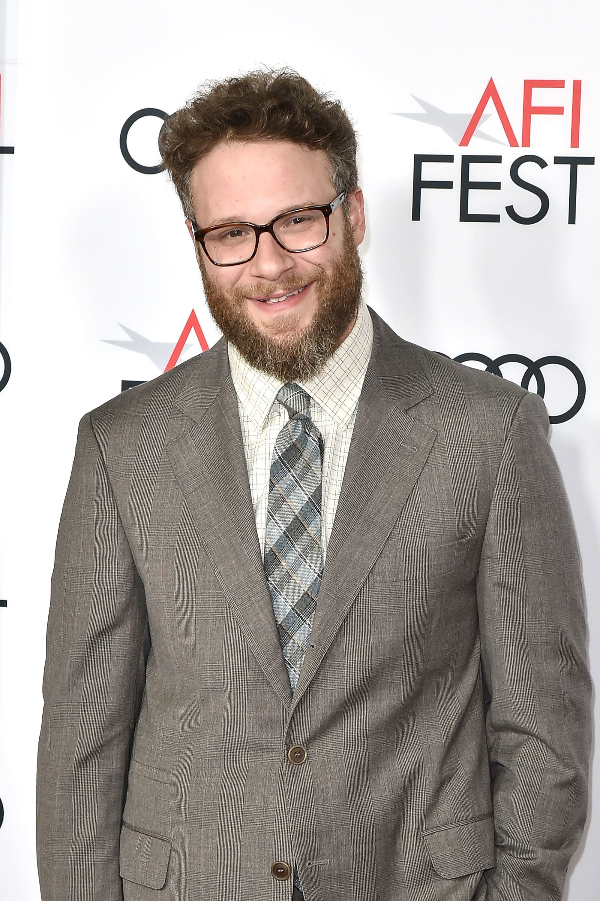 HOLLYWOOD, CA - NOVEMBER 12:  Seth Rogen attends the AFI FEST 2017 Presented By Audi - Screening Of 'The Disaster Artist' - Arrivals at TCL Chinese Theatre on November 12, 2017 in Hollywood, California.  (Photo by David Crotty/Patrick McMullan via Getty Images)