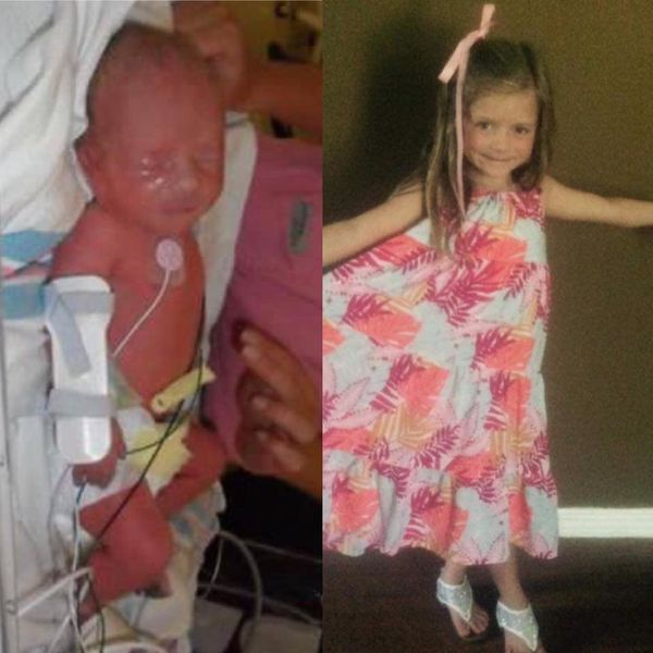 Paisley Faith, born at 33 weeks! She was a fighter from the beginning and now is 5 and such a smart and beautiful blessing.<b