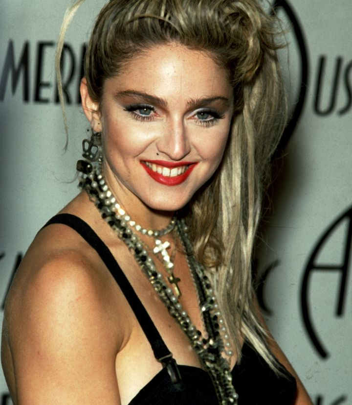 Madonna, pictured here in 1985, often wore crosses and even rosary beads around her neck in the early days of her career.&nbs