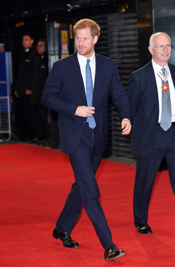 Prince Harry attends the Virgin Money Giving Mind Media Awards on Nov. 13 in London, England.