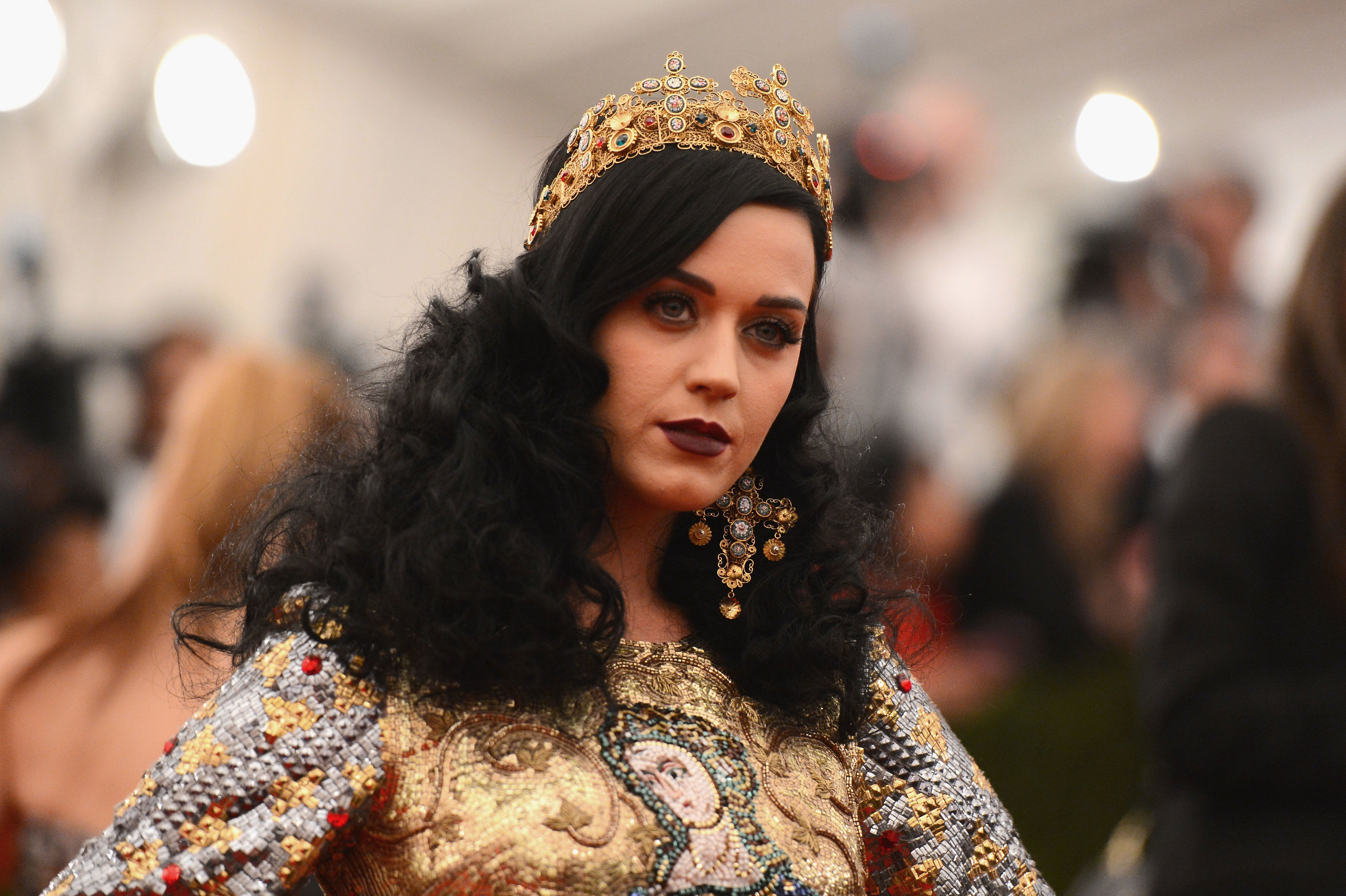 Katy Perry dressed in Dolce & Gabbana at the 2013 Met Gala.