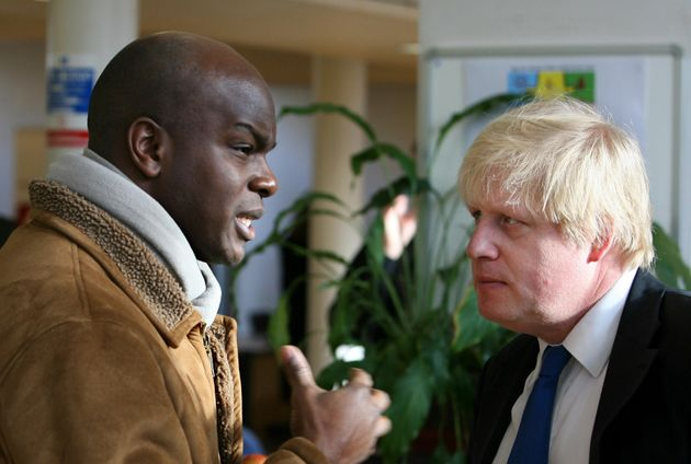 Shaun Bailey with Boris Johnson, who was London Mayor at the