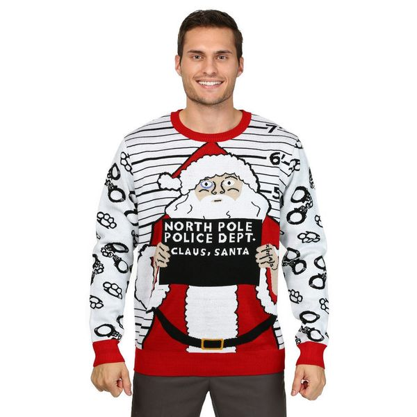 "This <a href=""https://www.overstock.com/Clothing-Shoes/Mens-Free-Santa-Christmas-Sweater/13054407/product.html/?cid=267318"" t"