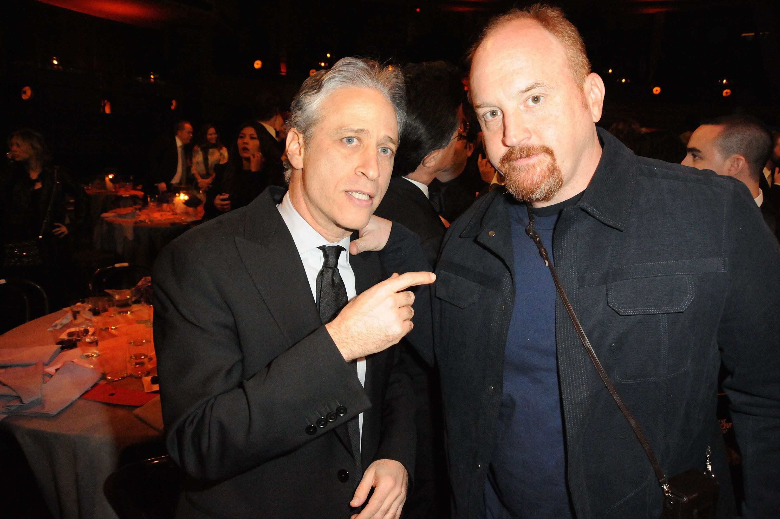 Jon Stewart and Louis C.K. at the First Annual Comedy Awards on March 26,