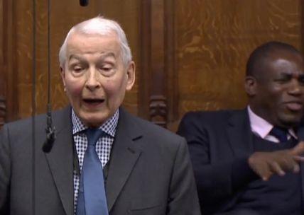 David Lammy's Reaction When Labour MP Frank Field Burns Hilary Benn Is