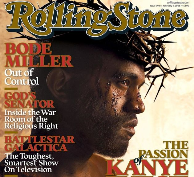 Kanye West on the cover of Rolling Stone,