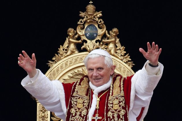 Pope Benedict XVI wearing his traditional