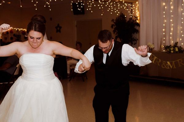 We'd just said our vows and our first year of marriage had officially kicked off. We did our first dance and then we had a da