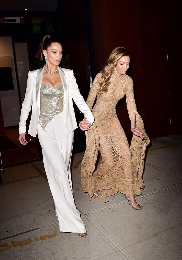 Gigi Hadid took a bit of tumble as she was leaving the Glamour Women of the Year Awards with her sister Bella
