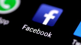 The Facebook application is seen on a phone screen August 3, 2017.   REUTERS/Thomas White