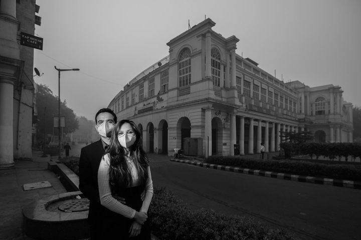 Photographer Ashish Pareek of Banjara Studiosstaged this shoot in New Delhi to illustrate what air pollution is doing t