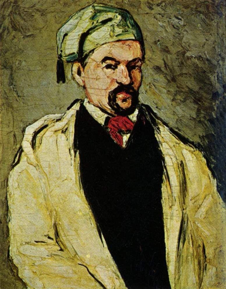 """""""Portrait of a Man in a Blue Cap (Uncle Dominique),"""" by Paul Cézanne  (1866)."""