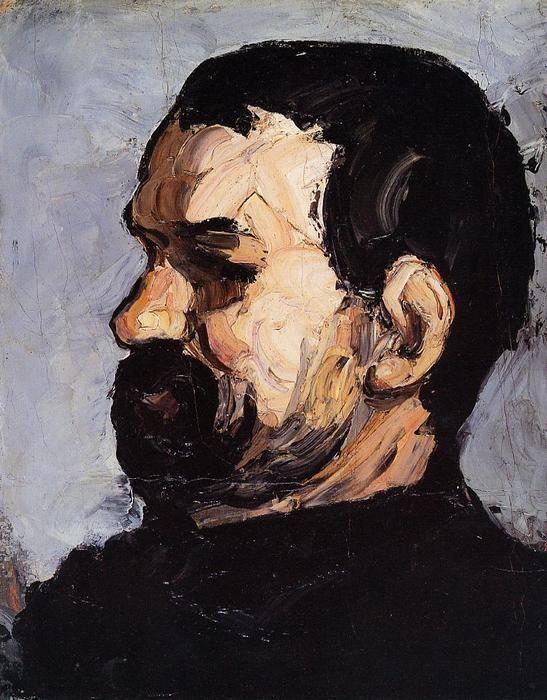 """""""Portrait of Uncle Dominique in Profile,"""" by Paul Cézanne (1866)."""