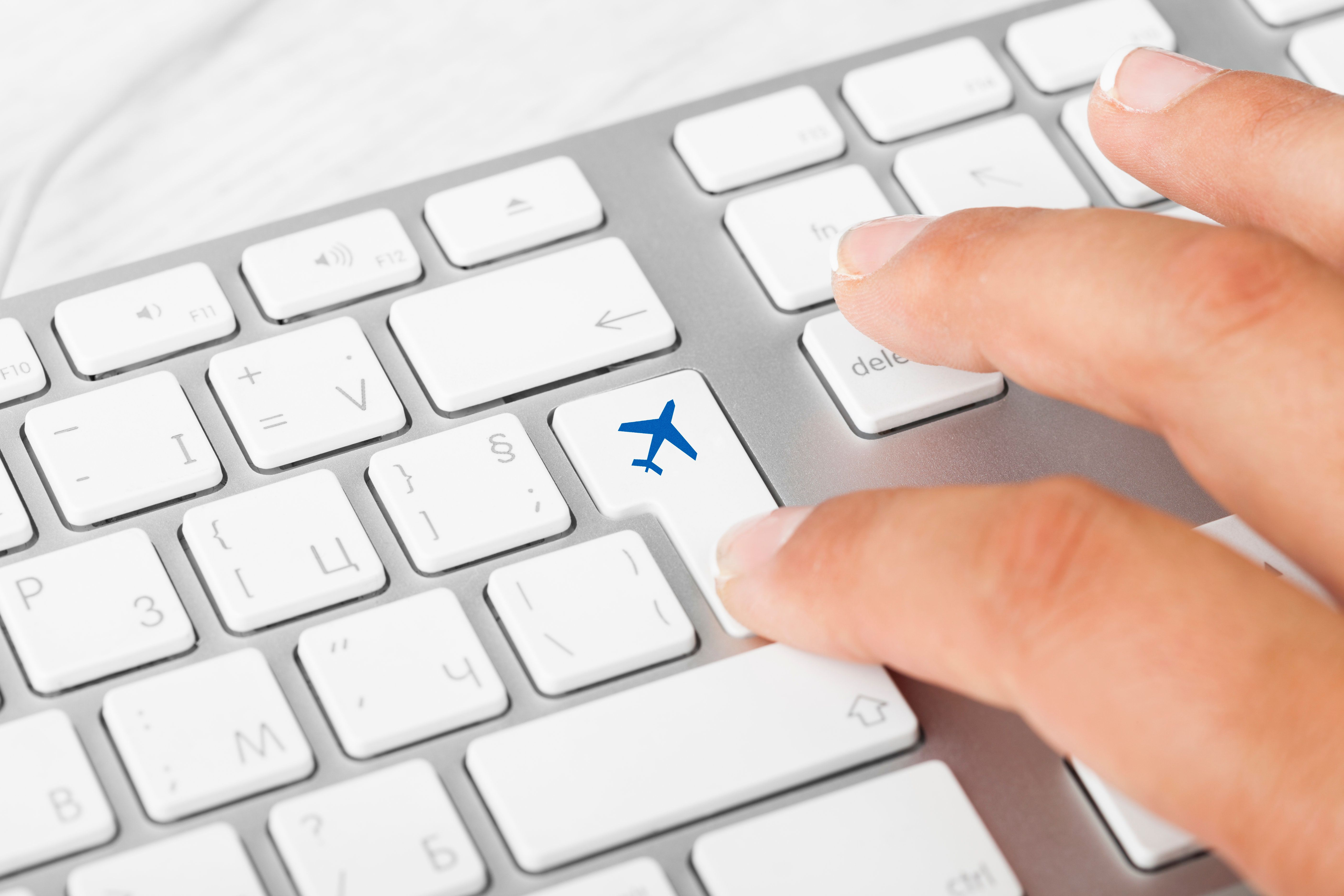 Plane Key On Computer Keyboard