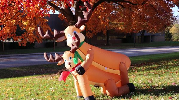 "Who knew giant inflatables could be so educational about the <a href=""http://www.uglychristmassweater.com/product/funny-humpi"