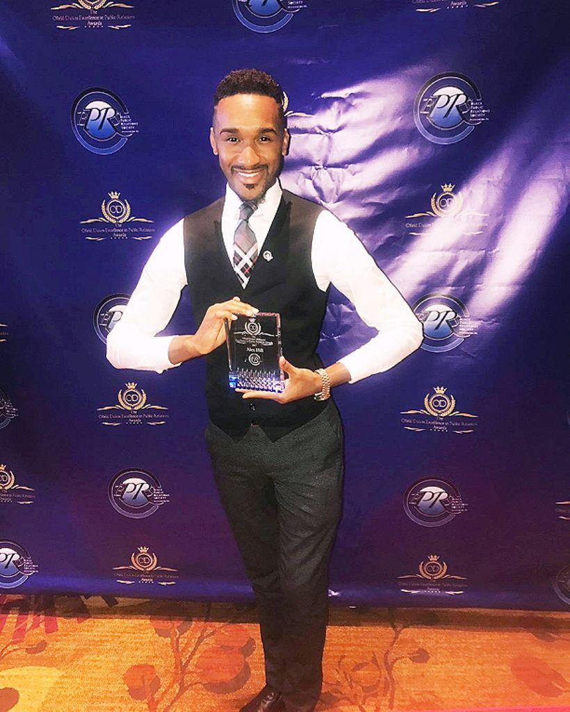 Alex Hill II is the recipient of the inaugural Ofield Dukes Excellence in Public Relations Award