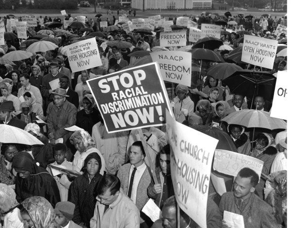 <p>Open housing demonstration in Seattle, October 20, 1963. </p>