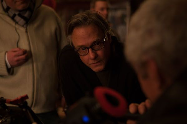 Mitchell Lichtenstein on set