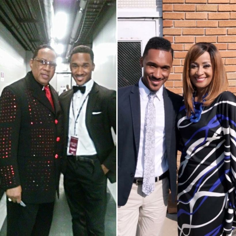 With (l) Dr. Bobby Jones and (r) Dr. Dorinda Clark Cole