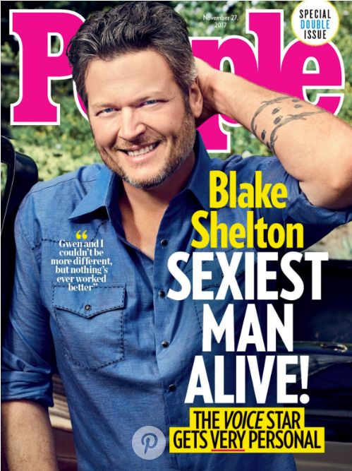 Blake Shelton Is People Magazine's Sexiest Man Alive For