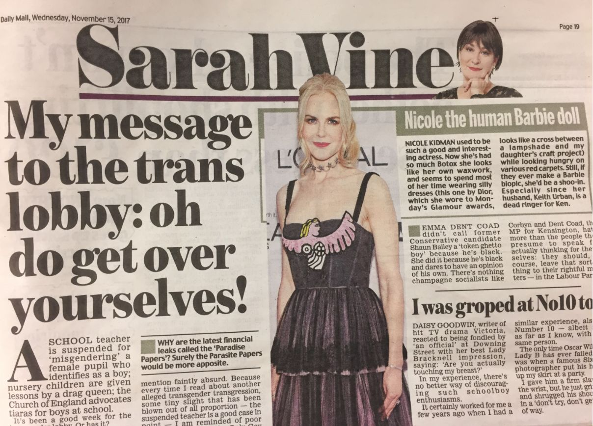 Daily Mail Columnist Sarah Vine Claims She Too Was 'Groped' In Downing