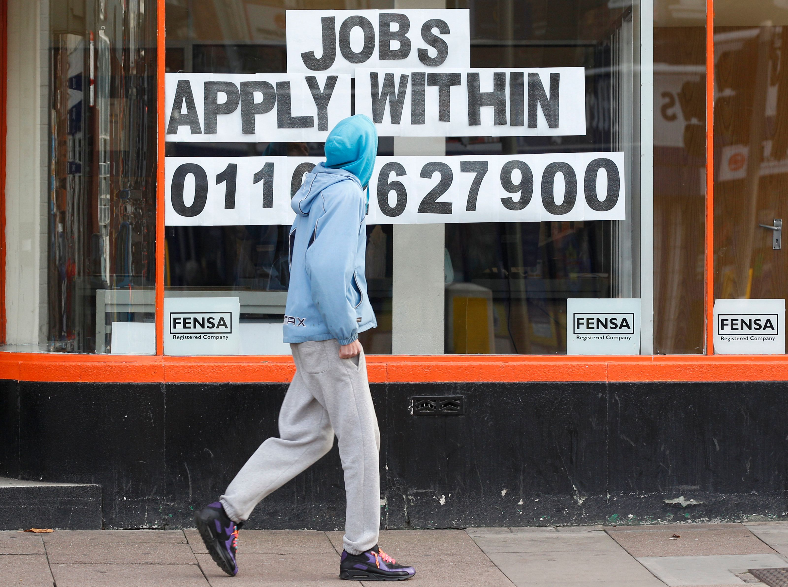The number of Britons in jobs has fallen by