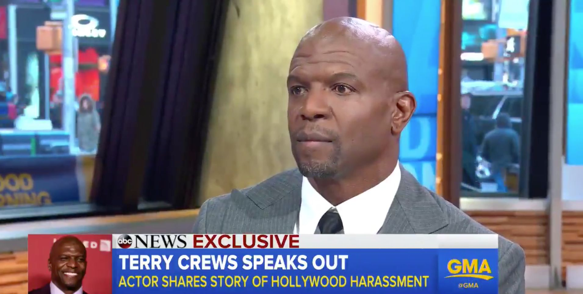 Actor Terry Crews publicly called out the man he says sexually harassed him at a Hollywood party last year