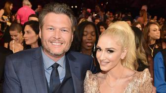 LAS VEGAS, NV - MAY 21:  Recording artists Blake Shelton (L) and Gwen Stefani attend the 2017 Billboard Music Awards at T-Mobile Arena on May 21, 2017 in Las Vegas, Nevada.  (Photo by John Shearer/BBMA2017/Getty Images for dcp)