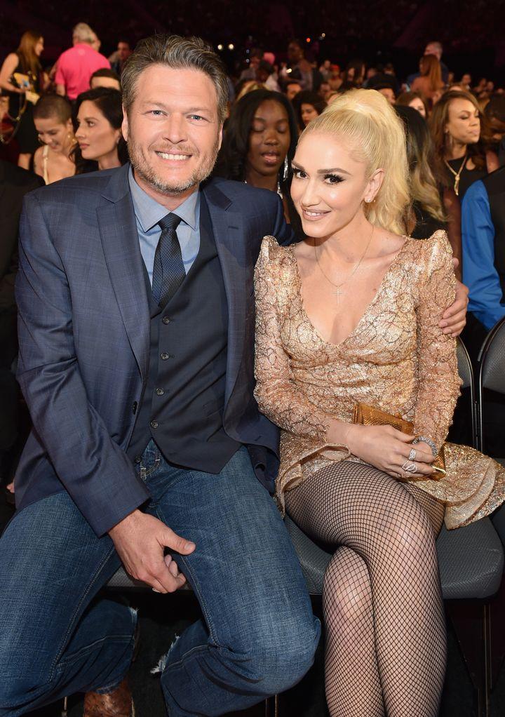 Blake Shelton and Gwen Stefani at the 2017 Billboard Music Awards.