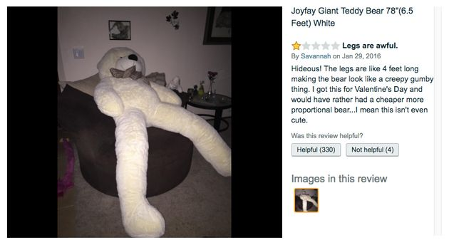 This Giant Teddy Bear Is All Legs And It's Freaking People