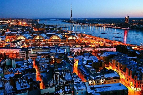 Riga, the capital of Latvia