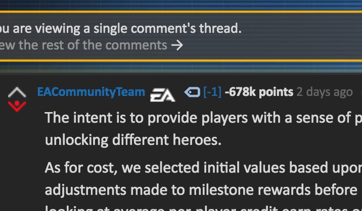 Video Game Company EA Now Has The Most Downvoted Comment In Reddit History