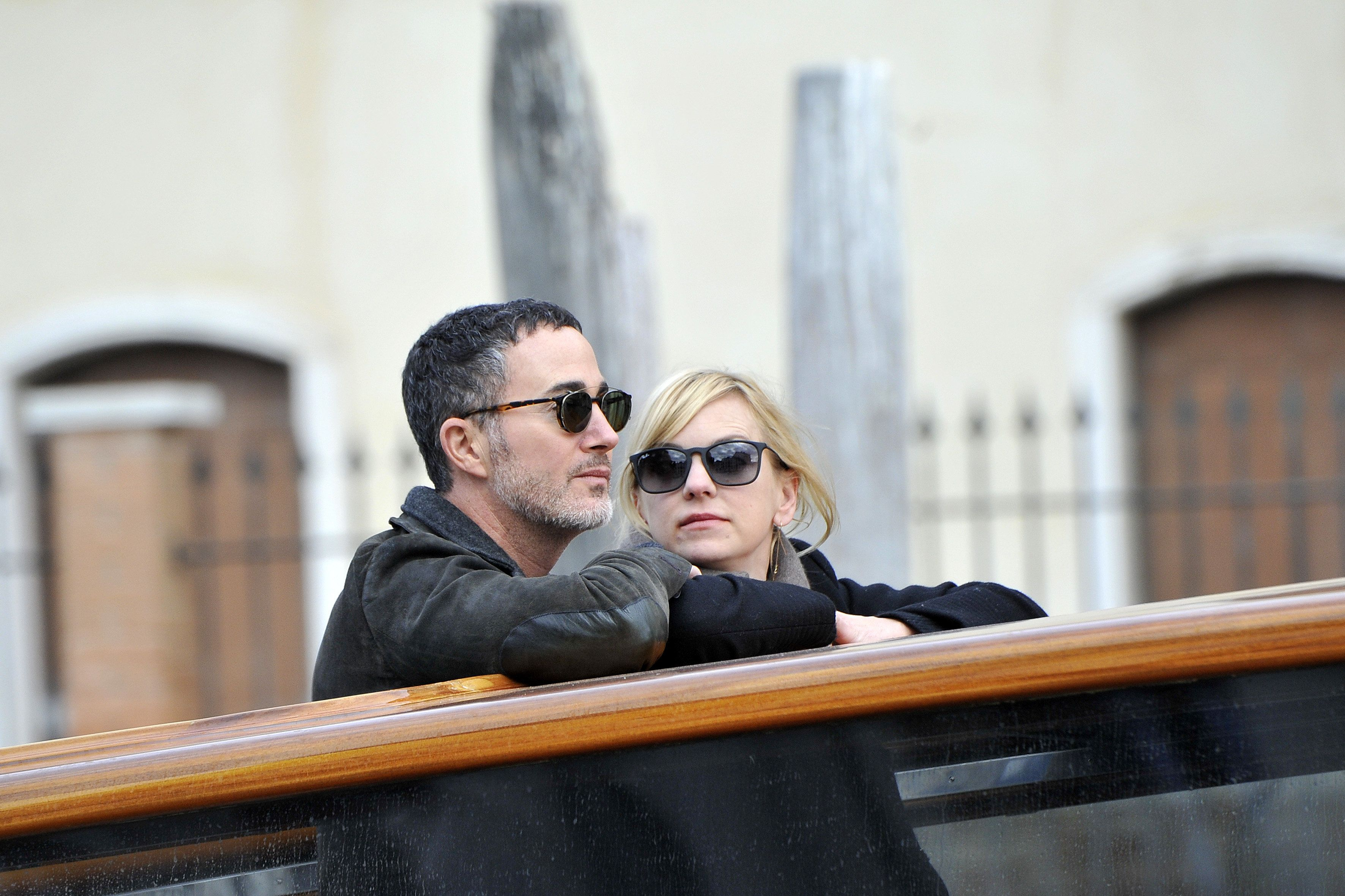Anna Faris and new boyfriend Michael Barrett are seen during a romantic taxi boat ride in Venice, Italy. 