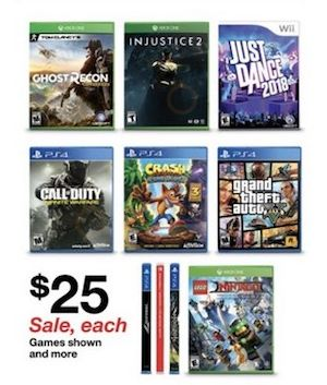 "Price tiers at $15, $25, $35, and $45. <br>Check <a href=""https://www.target.com/c/playstation-4-games-video/-/N-55krz"" targe"