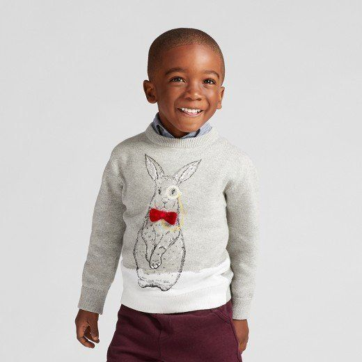 "Select styles<br>Full price: $15<br><a href=""https://www.target.com/s?searchTerm=Cat+and+Jack+Toddlers%27+Sweaters&clkid="