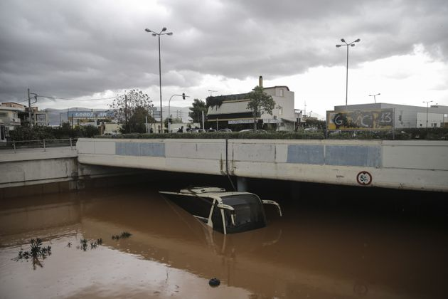Floods and mudslides have turned roads into fast-flowing rivers after torrential rains struck