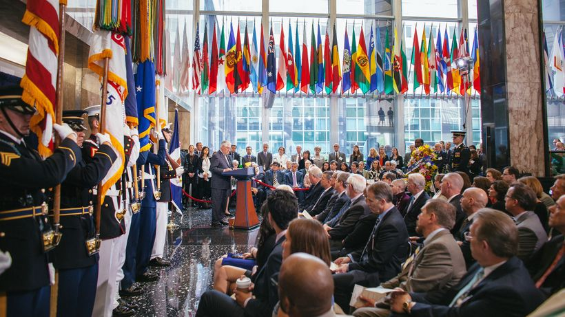 The American Foreign Service Association honors fallen career diplomats on Foreign Affairs Day, May 5, 2017.